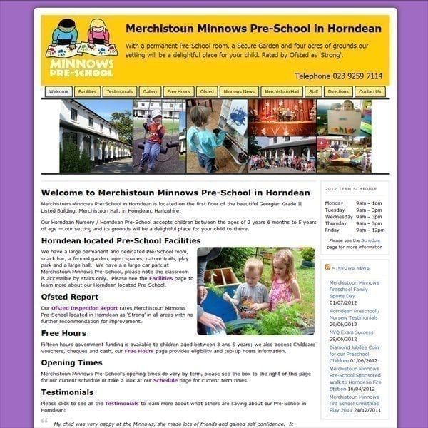 PreSchool & Nursery Website Design
