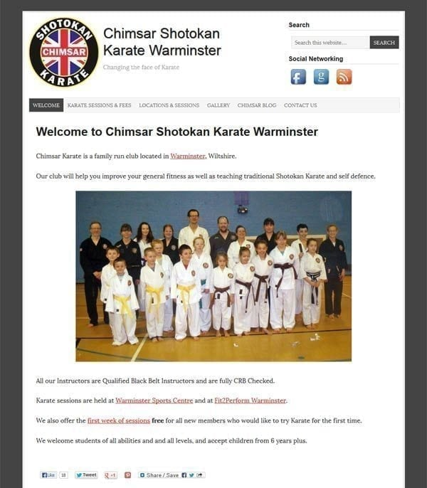 karate-website