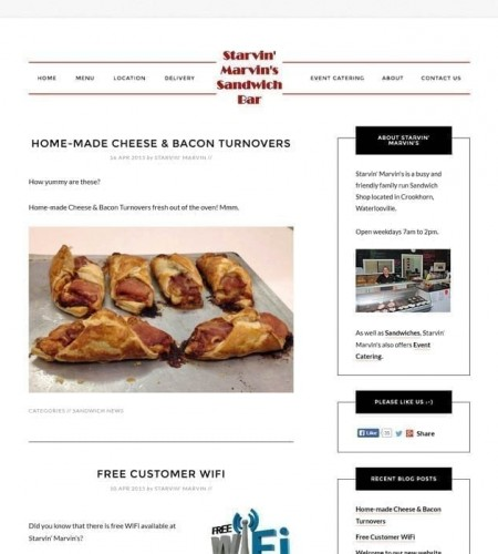 Sandwich Shop Website